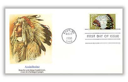 1990 25c Headdresses: Assiniboine