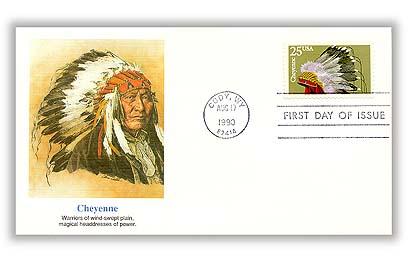 1990 25c Headdresses: Cheyenne