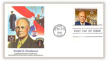 1990 25c Dwight David Eisenhower