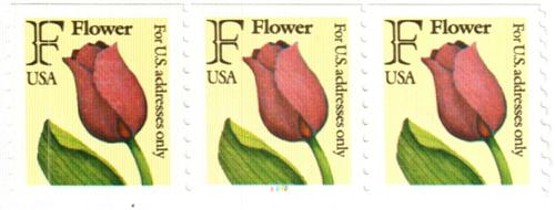 1991 29c F-rate Flower, coil