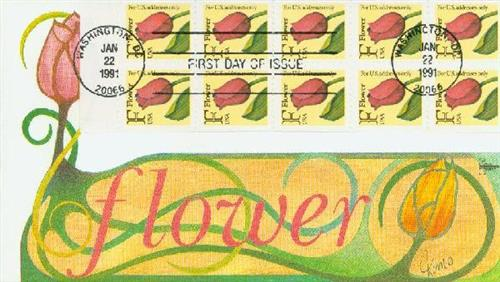 1991 29c 'F' Stamp,KCS bklt pane of 10