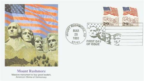 1991 29c Flag over Mount Rushmore