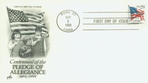 1992 Pledge Classic First Day Cover
