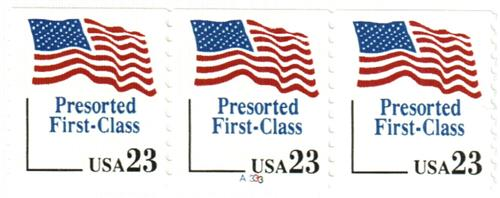 1993 23c Stars and Stripes, coil
