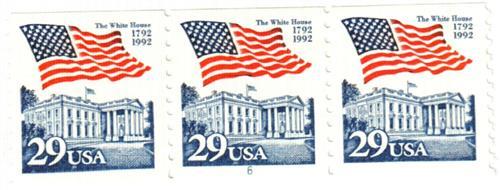1992 29c Flag over White House