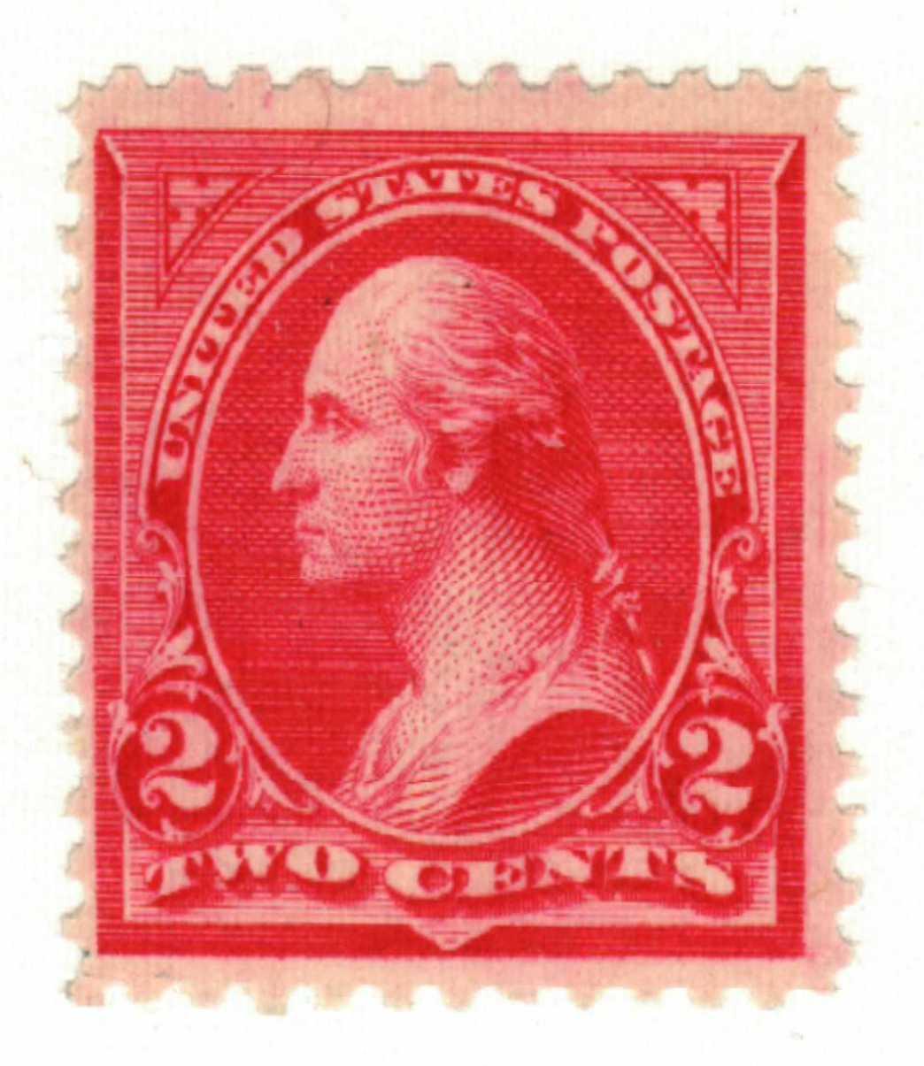 1895 2c Washington, double line watermark, type II