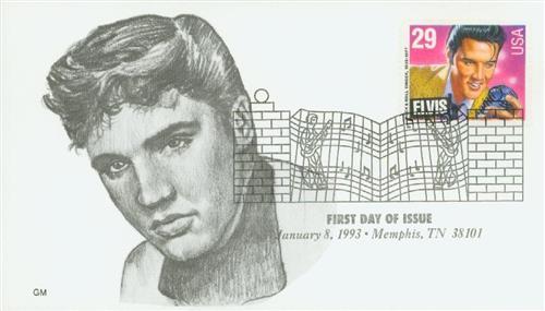 1993 29c Legends of American Music: Elvis Presley