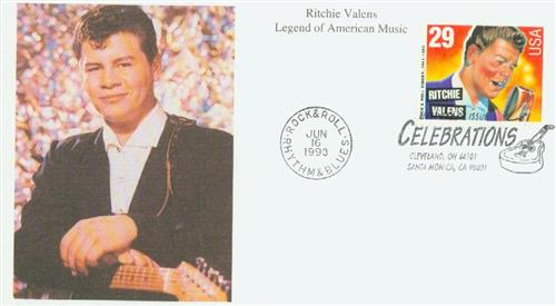 1993 29c Legends of American Music: Ritchie Valens