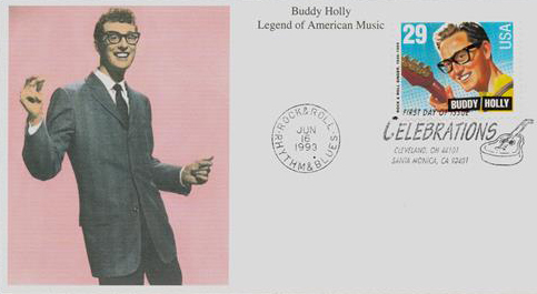1993 29c Legends of American Music: Buddy Holly
