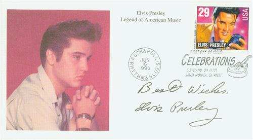1993 29c Legends of American Music: Elvis Presley, booklet single