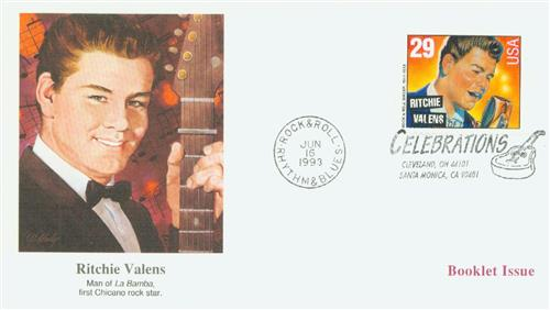 1993 29c Legends of American Music: Ritchie Valens, booklet single