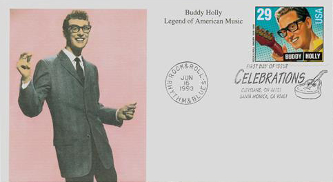 1993 29c Legends of American Music: Buddy Holly, booklet single