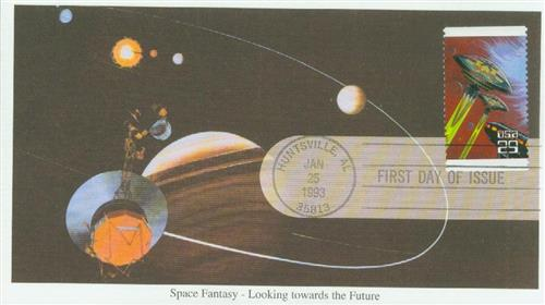 1993 29c Space Fantasy: Flying Saucers