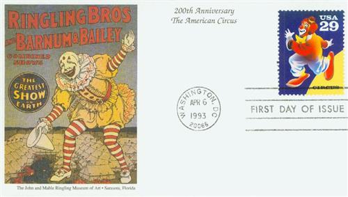 1993 29c Circus: Clown