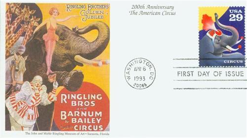 1993 29c Circus: Elephant