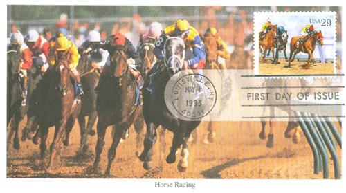 1993 29c Sporting Horses: Racing