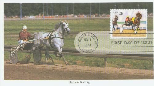 1993 29c Sporting Horses: Harness Racing