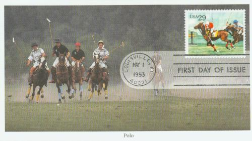 1993 29c Sporting Horses: Polo