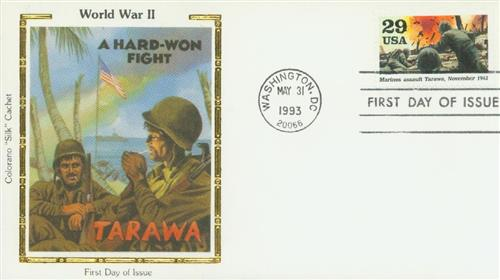U.S. #2765j FDC – Assault on Tarawa Silk First Day Cover.