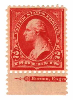 1899 2c Washington, Double Line watermark, Type IV