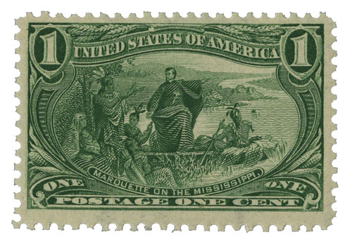 1898 1c Trans-Mississippi Exposition: Marquette on the Mississippi