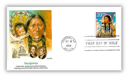1994 29c Legends of the West: Sacagawea