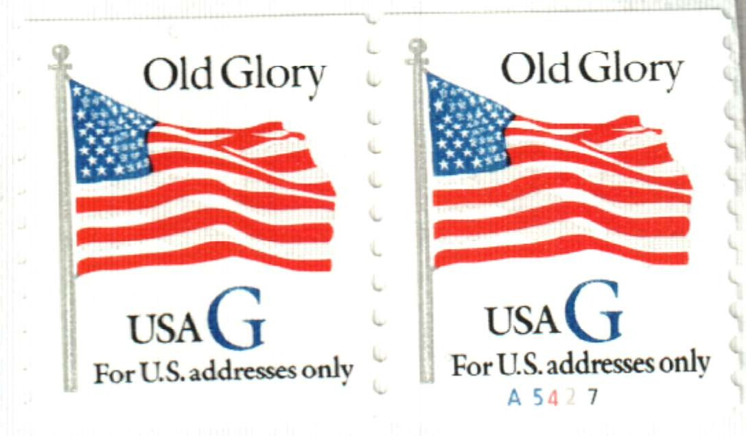 1994 32c Old Glory Coilperfblue G For Sale At Mystic Stamp Company