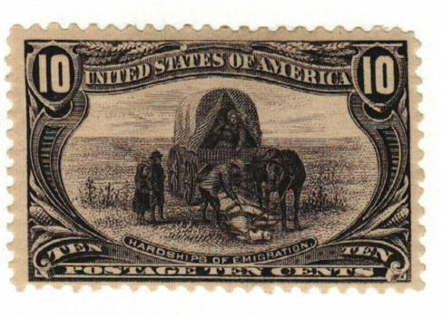 1898 10c Trans-Mississippi Exposition: Hardships of Emigration