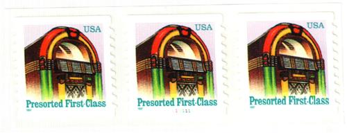 1997 25c Juke Box, non-denominational, self-adhesive coil stamp