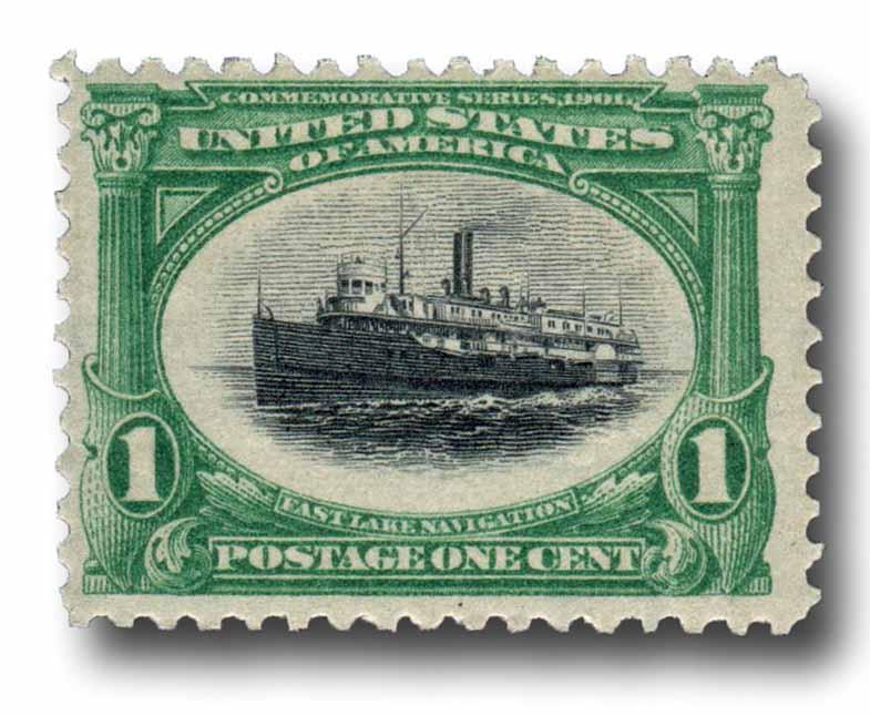 1901 1c Pan-American Exposition: Fast Lake Navigation
