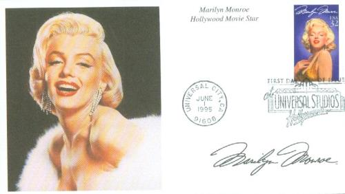 1995 32c Legends of Hollywood: Marilyn Monroe