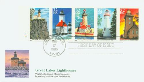 1995 32c Great Lakes Lighthouses