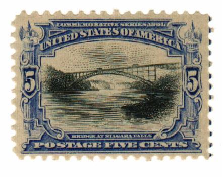 1901 5c Pan-American Exposition: Bridge at Niagara Falls