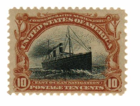 1901 10¢ Pan-American Exposition: Fast Ocean Navigation