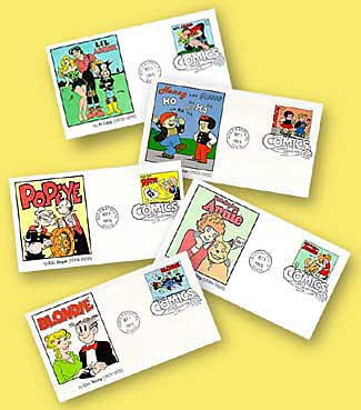 Comic strip classic stamps