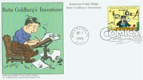 1995 32c Comic Strip Classics: Rube Goldberg's Inventions