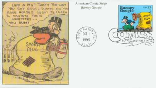 1995 32c Comic Strip Classics: Barney Google