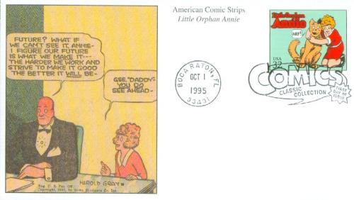 1995 32c Comic Strip Classics: Little Orphan Annie