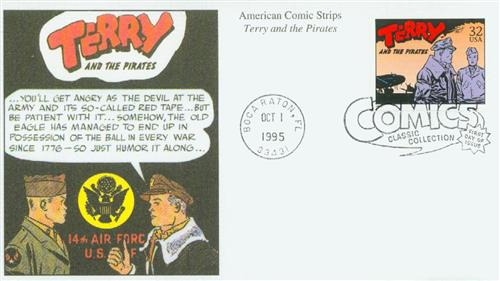 1995 32c Comic Strip Classics: Terry and the Pirates
