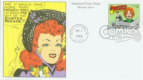 1995 32c Comic Strip Classics: Brenda Starr, Reporter