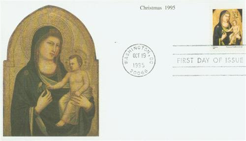 1995 32c Traditional Christmas: Madonna and Child