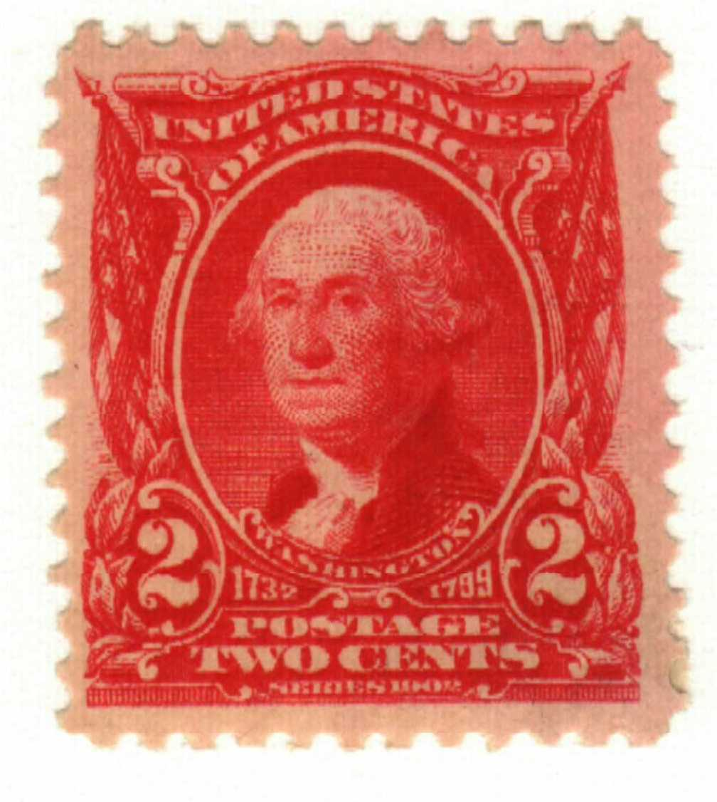 1903 2c Washington, carmine