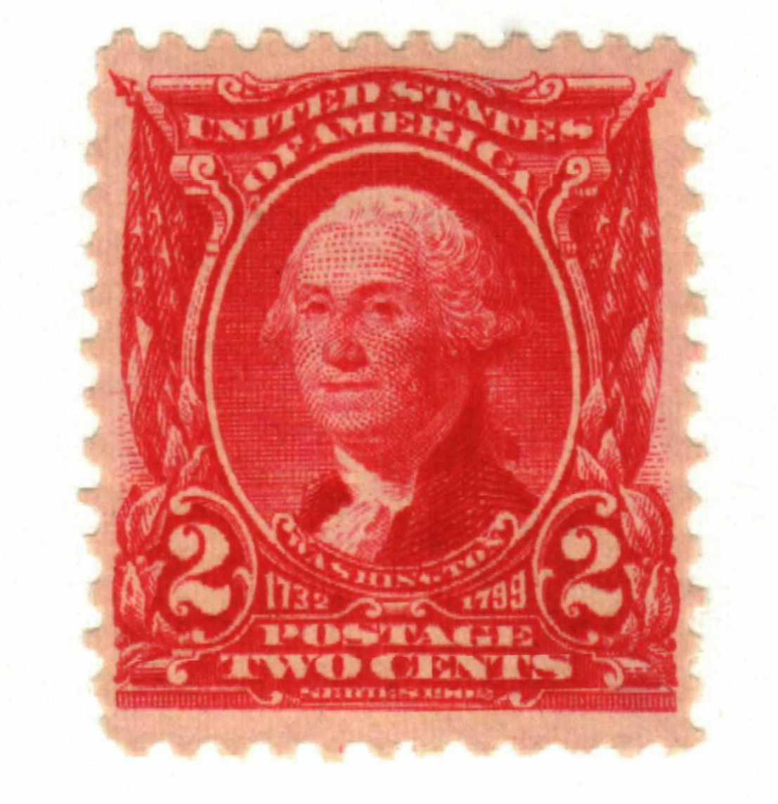 1903 2c Washington, carmine