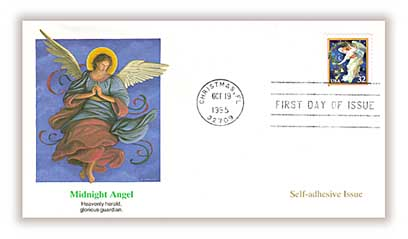 1995 32c Traditional Christmas: Midnight Angel, booklet single