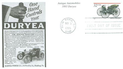 1995 32c Antique Automobiles: 1893 Duryea