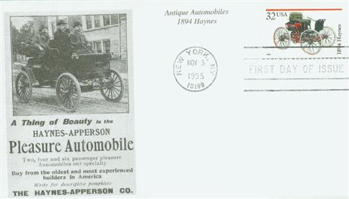 1995 32c Antique Automobiles: 1894 Haynes