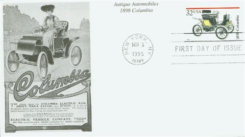 1995 32c Antique Automobiles: 1898 Columbia