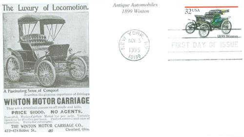 1995 Winton Mystic First Day Cover