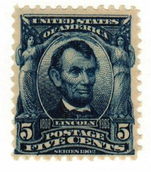1903 5c Lincoln, blue