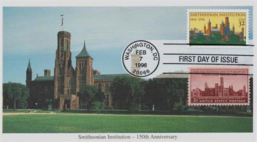 1996 32c & 3c Smithsonian Institution
